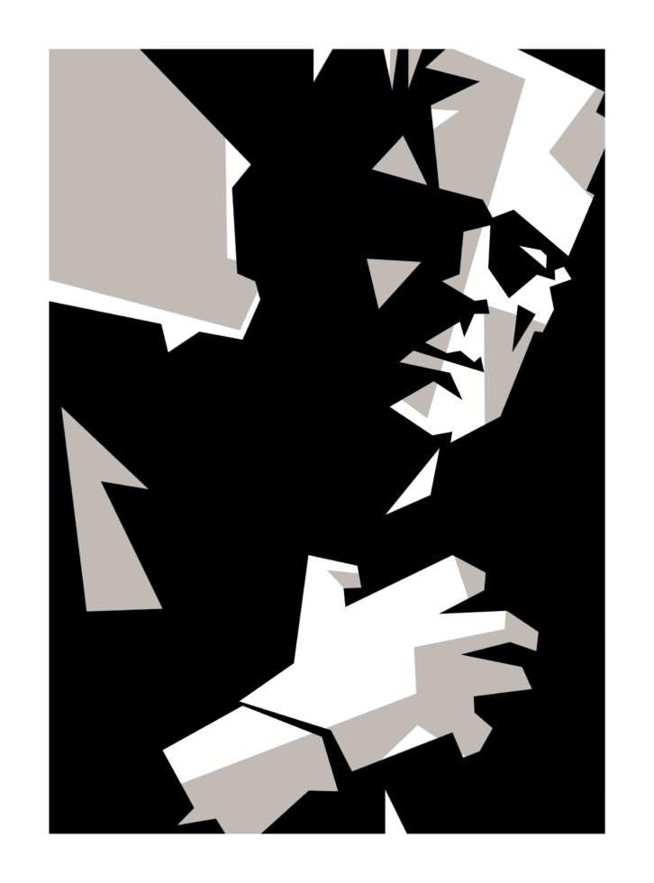 Obra de Manolo Sánchez en 'De luces a sombras'. Aula de Cultura La Llotgeta. Imagen cortesía del comisario Nilo Casares.
