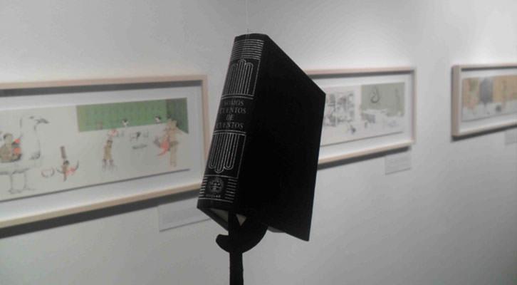 Obra de Carmela Mayor y Ana-Luisa Ramírez en la exposición 'El Arca de No-es'. Sala la Muralla del Col.legi Major Rector Peset.