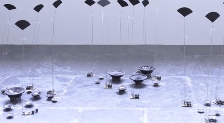 Obra de José Antonio Orts en la exposición 'Hidrofanías'. Sala Parpalló del MuVIM.