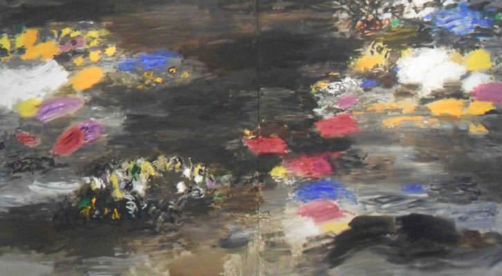 Obra de Willy Ramos en la exposición 'Memoria del color', en el Centro del Carmen.