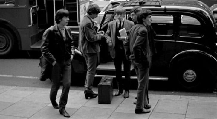 Fotografía de The Rolling Stones en la exposición del Centro Cultural Bancaja,