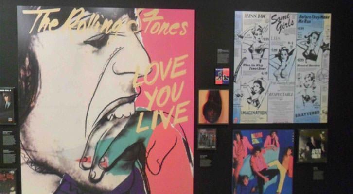 Carteles de The Rolling Stones en la exposición 'Sympathy for the Stones'. Centro Cultural Bancaja.