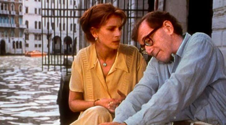 Fotograma de 'Todos dicen I Love You', de Woody Allen. Jardines del Palau de la Música. Filmoteca d'Estiu de CulturArts IVAC.