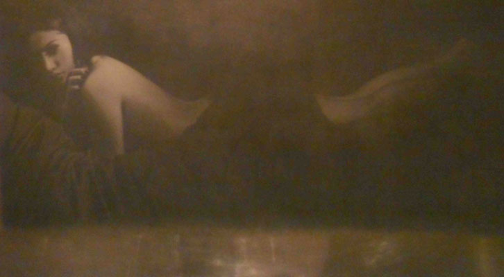 Obra de Marta Blasco en la exposición Trazas. Centro del Carmen.
