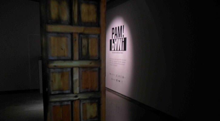 Obra de David Cantarero en la exposición PAM! Centro del Carmen.