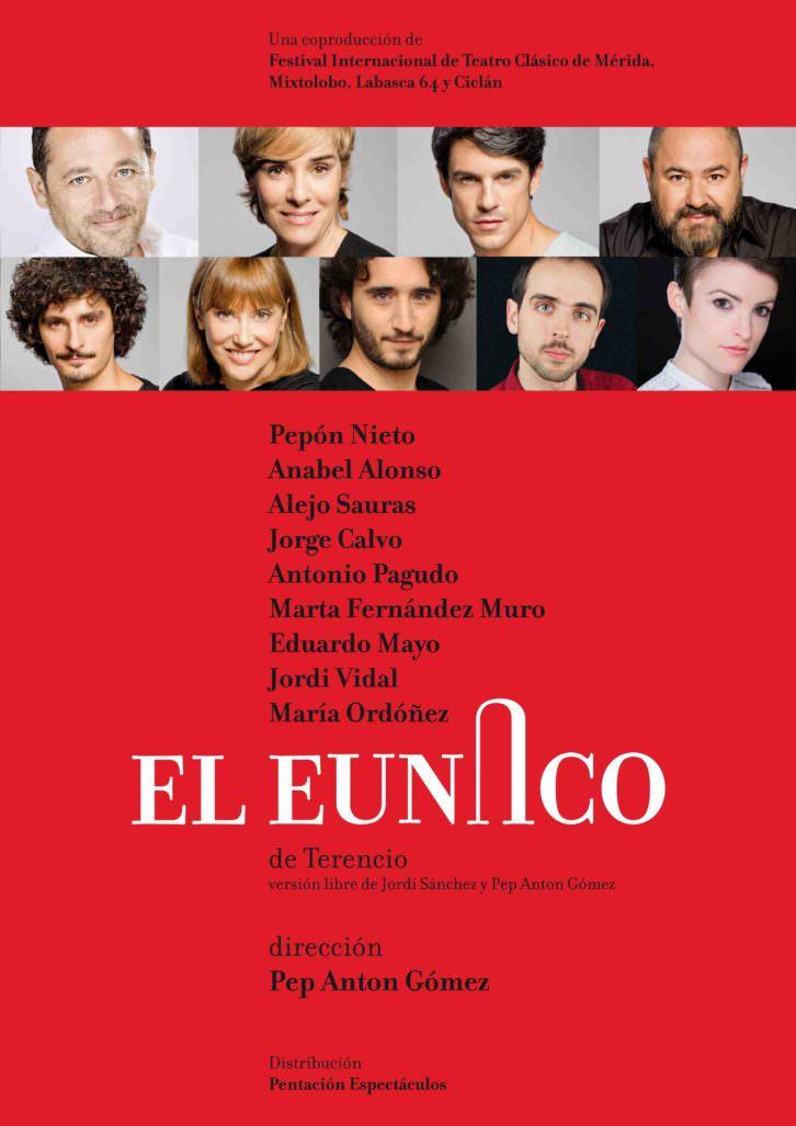 Cartel de 'El eunuco'. Festival d'Estiu Sagunt a Escena.