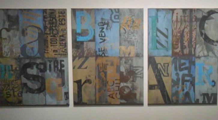 Obra de Jonay N. Cogollos en la exposición Trazas. Centro del Carmen.