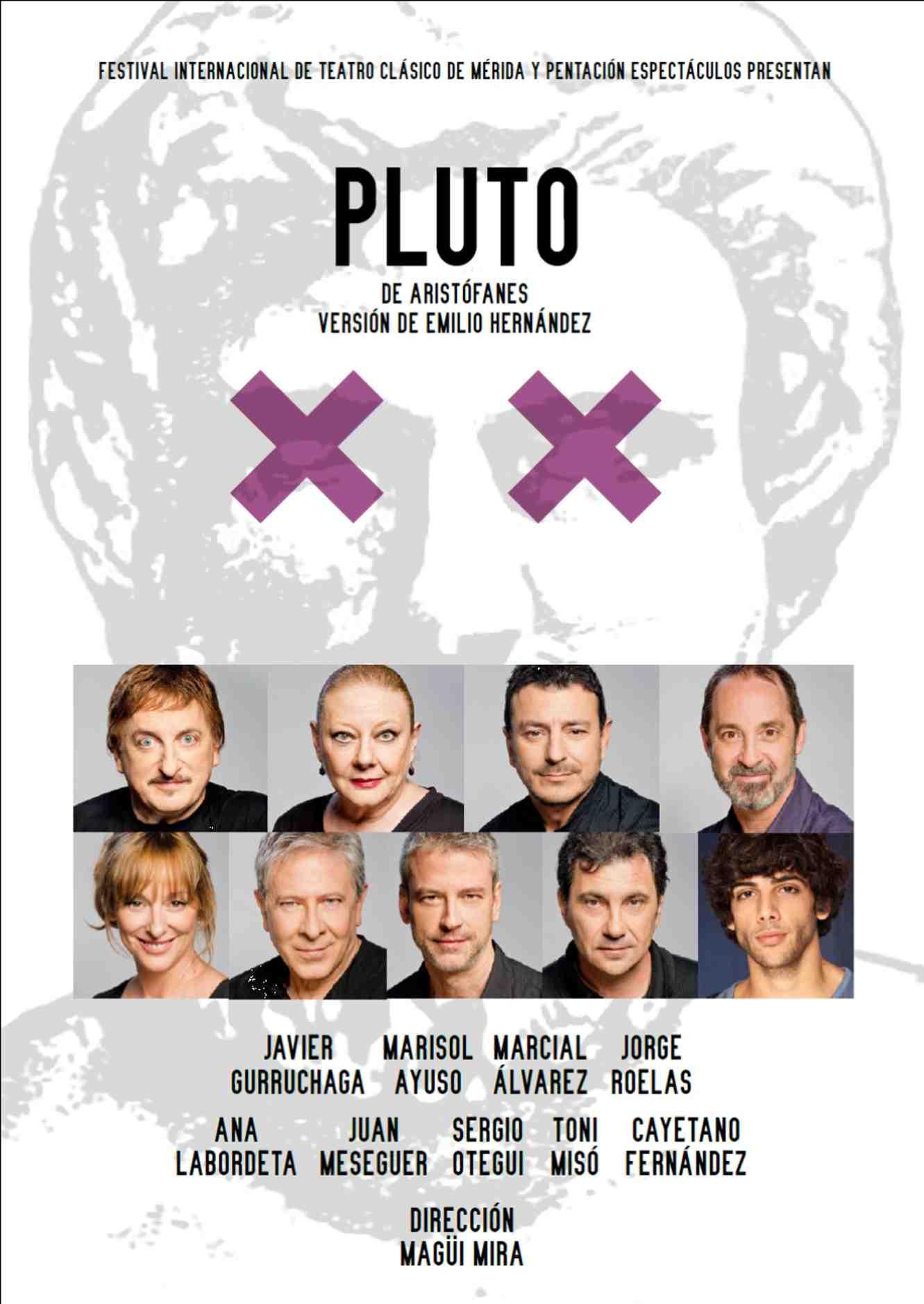 Cartel de 'Pluto', de Aristófanes. Festival d'Estiu Sagunt a Escena.
