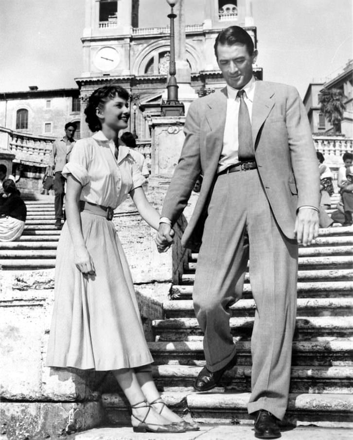 Vacaciones en Roma, de William Wyler, es una de las películas citadas en el libro 'Ciudades de cine'. Imagen cortesía de los autores.