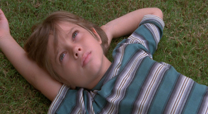Ellar Coltrane, de niño, en 'Boyhood' de Richard Linklater.