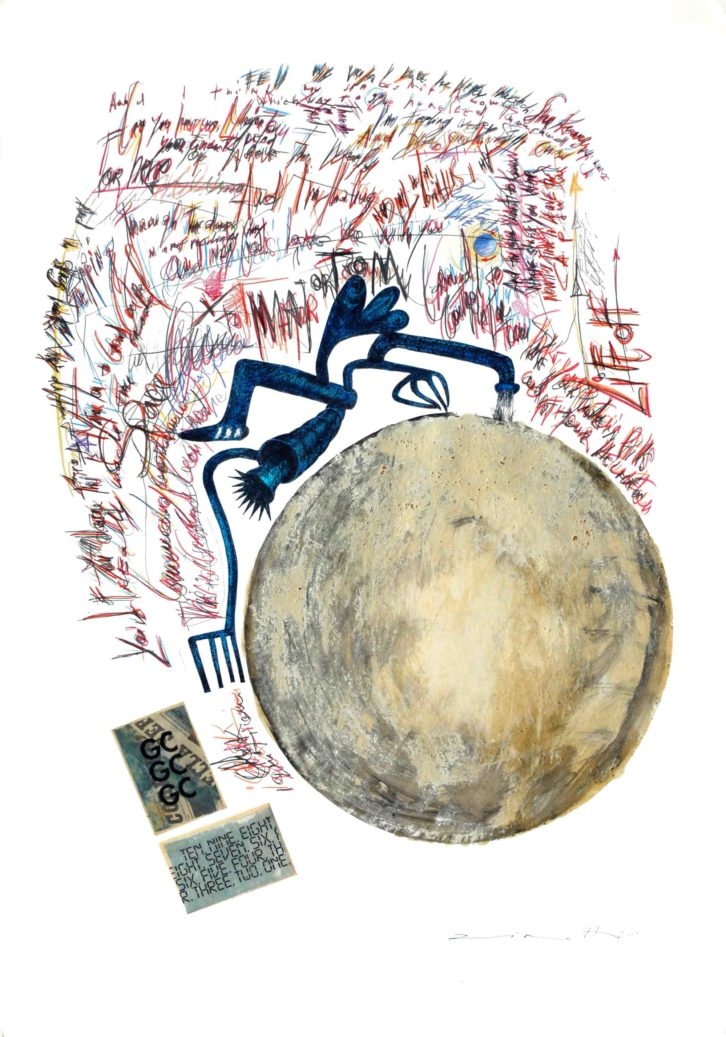 'Space Oddity' de Claudio Zirotti para la exposición 'Lyrics and Visions'. Imagen cortesía de Espacio 40.