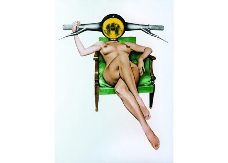 Obra de Sean Mackaoui en Set Espai d'Art de Valencia. Imagen cortesía de la galería.