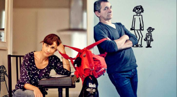 Toni Acosta e Iñaki Miramón, protagonistas de 'De mutuo desacuerdo', dirigida por Quino Falero. Imagen cortesía de Teatre Talia.