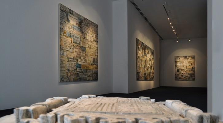 Nuno Nunes-Ferreira. Fósiles, 2014, vista de sala. Cortesía Galería Paz y Comedias.