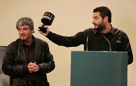 César Martí, junto a Toni Benavent.