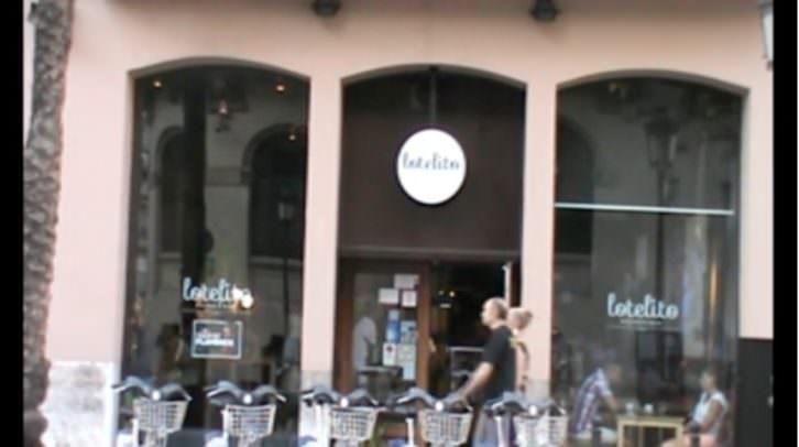 Imagen de la fachada de Lotelito, extraída del video de Néstor Navarro con motivo de la inauguración de la muestra de Iñaki Torres 'Tanteando lo desconocido'.