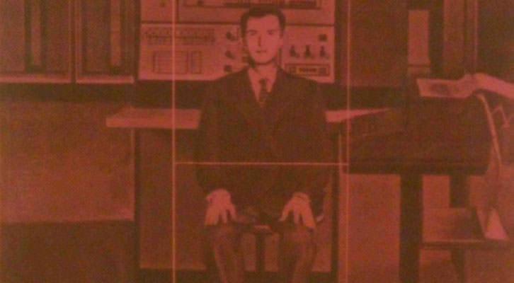 Detalle de una de las obras de Anzo, perteneciente a su serie Aislamientos, en la exposición 'Anzo experimental', en La Nau de la Universitat de València.