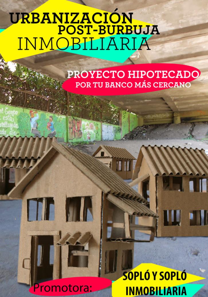 Alejandro Bonnet de León. Casas de papel (Urbanización post-burbuja inmobiliaria). Cortesía del artista.