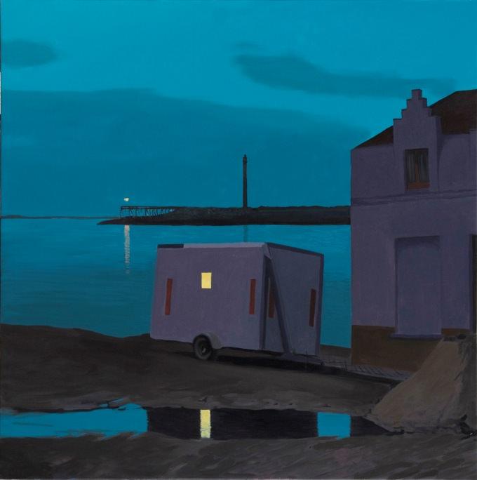 Ángel Mateo Charris. Euronómadas. 2011. Óleo/lienzo. 200 x 200 cm.