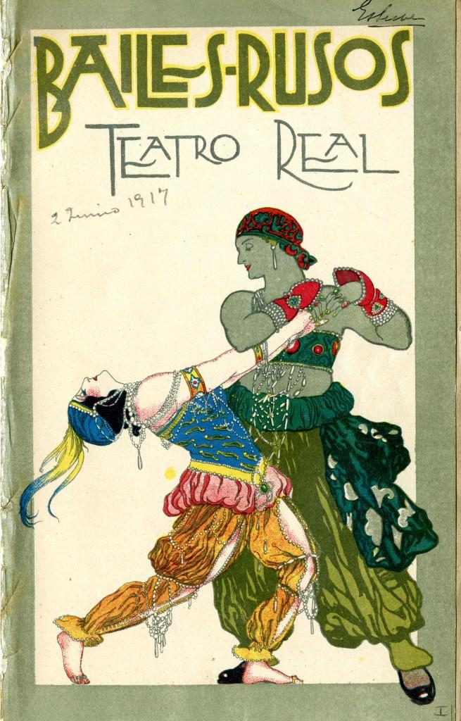Bailes rusos. Teatro del Liceo, Barcelona obra de un anónimo, en la exposición Barcelona, zona neutral (1914-1918). Imagen cortesía de la Fundación Joan Miró.