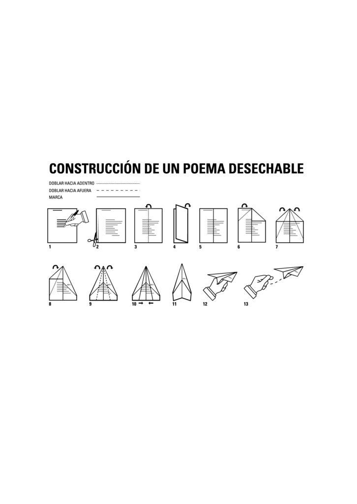 """Poema visual """"Instrucciones"""". Imagen cortesía de David Trashumante."""
