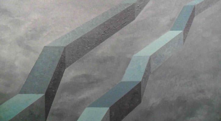 Obra de Javier Calvo en la exposición 'Itinerario hacia la vacuidad', en la Fundación Chirivella Soriano.