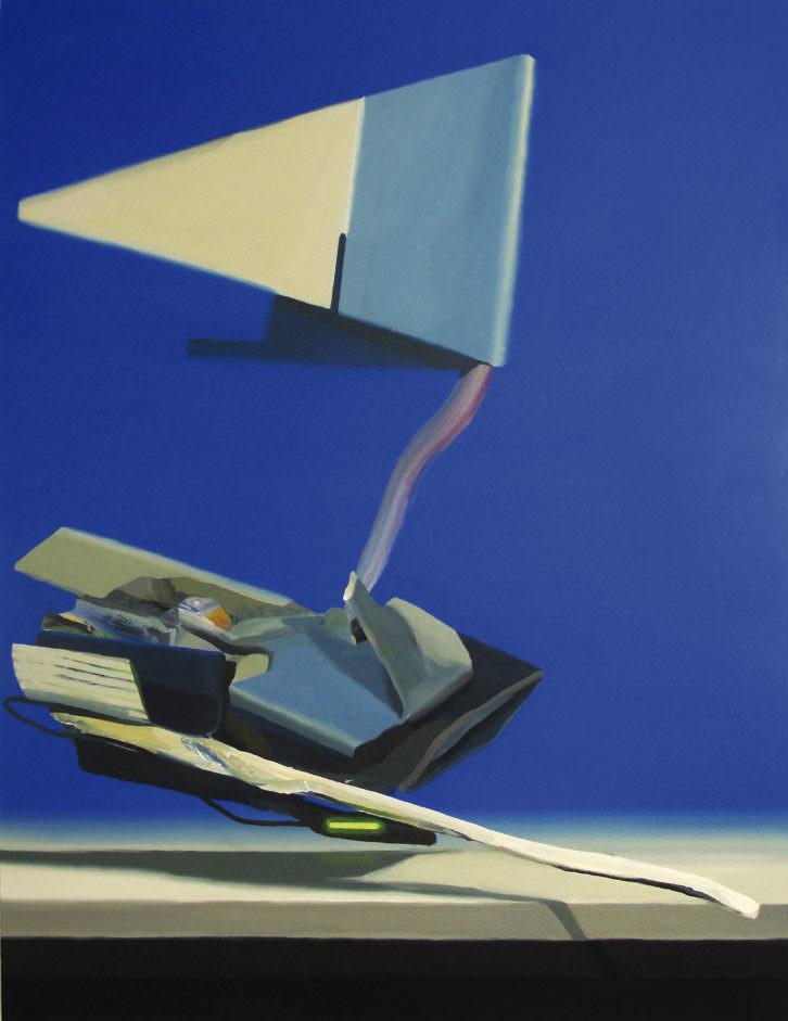 Joël Mestre. Pecio nacionalista. 2012. Pigmento y látex sobre loneta. 195 x 150 cm.
