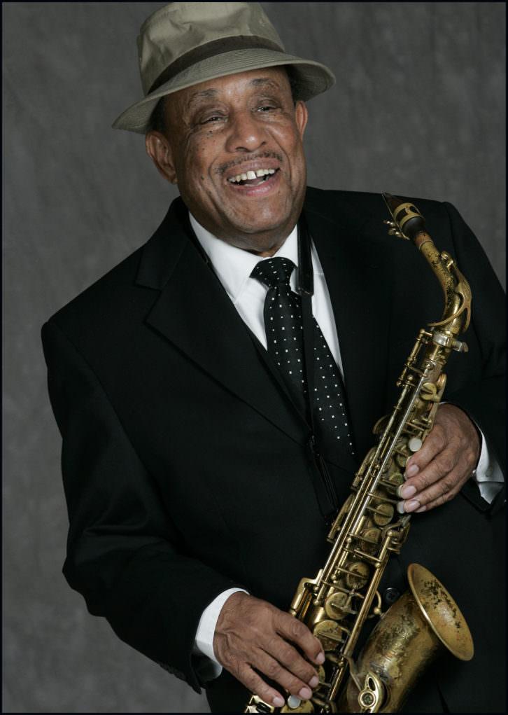 El saxofonista Lou Donaldson. Imagen cortesía de Jimmy Glass.