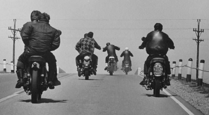 Fotografía de Danny Lyon en la exposición 'The Bikeriders', de la Fundación Colectania, en el MuVIM.