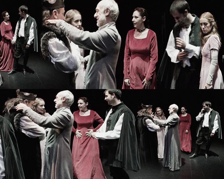 Fotomontaje de escenas de 'Matar al rey', de Chema Cardeña. Imagen cortesía de Sala Russafa.