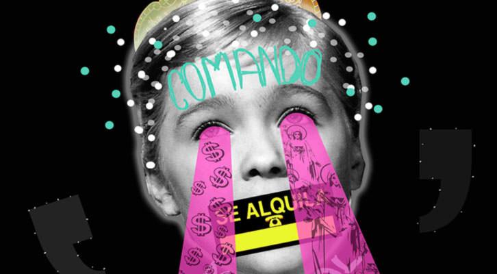 Cartel promocional de la última exposición de Comando Marisol. Imagen cortesía del grupo.