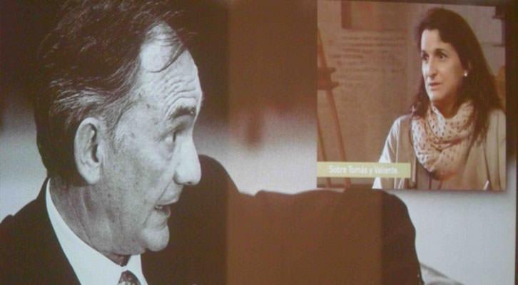 Video en el que aparece Francisco Tomás y Valiente, y su hija Carmen, en la exposición 'Mestres de ciutadania', en La Nau de la Universitat de València.