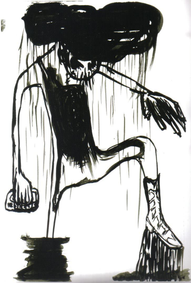 """Pablo Bellot. Estudio de mancha negra """"Tormentas"""". Cortesía del artista."""