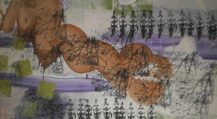 Obra de Jose Pla para la exposición 'Hotel Pla' de Lotelito. Imagen cortesía del autor.
