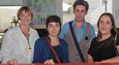 De izquierda a derecha, Merche Medina, Eva Mengual, José Ramón Alarcón y Marta Pina. Fotografía: Fernando Ruiz.