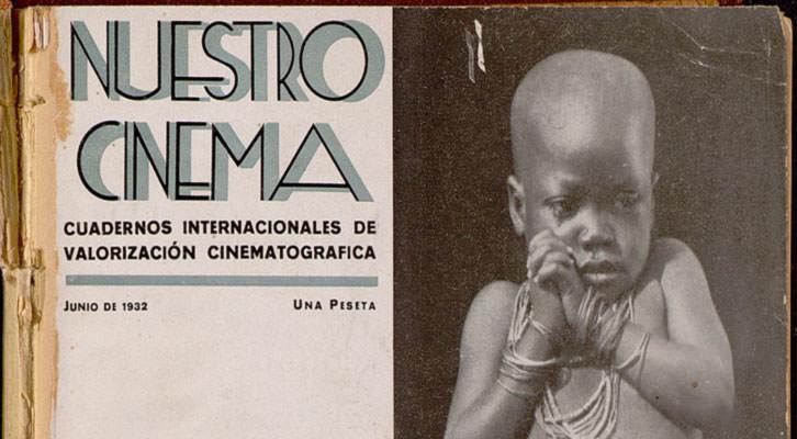 Portada de Nuestro Cinema,  una de las revistas históricas de cine recuperada por la UPV. Imagen cortesía de la Universitat Politècnica de València.