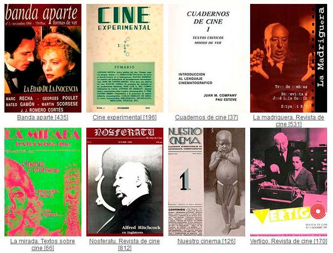Portadas de algunas de las revistas históricas de cine recuperadas por la UPV. Imagen cortesía de la Universitat Politècnica de València.