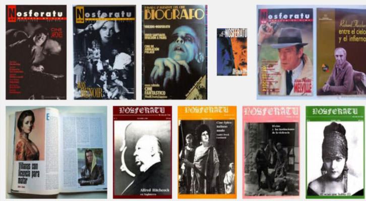 Portadas de la revista 'Nosferatu', una de las publicaciones digitalizadas por el equipo de la UPV.