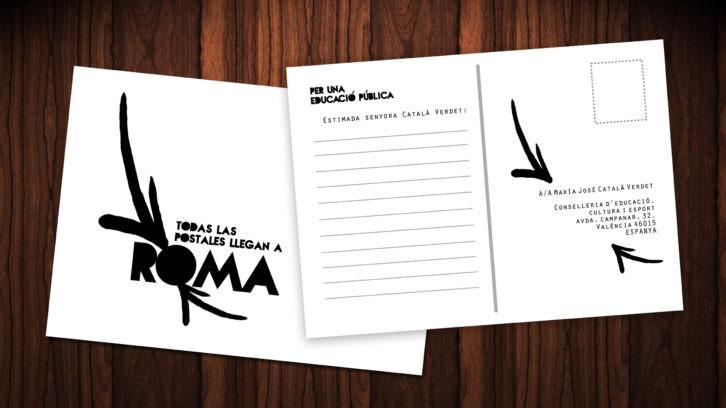 Colectivo Naranjayrojo. Todas las postales llegan a Roma. Cortesía de los artistas.