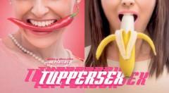 Detalle del cartel de 'Tuppersex', de Edu Pericas, en el Teatro Talia de Valencia. Imagen cortesía del Talia.
