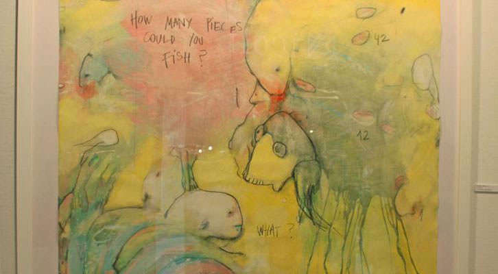 Detalle de una de las obras de Ana Vernia en la exposición 'Después del chocolate' de la Galería Cuatro.