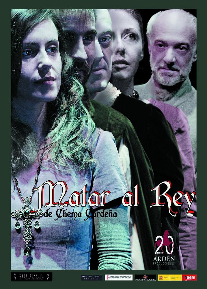 Cartel de 'Matar al rey', de Chema Cardeña. Imagen cortesía de Sala Russafa.