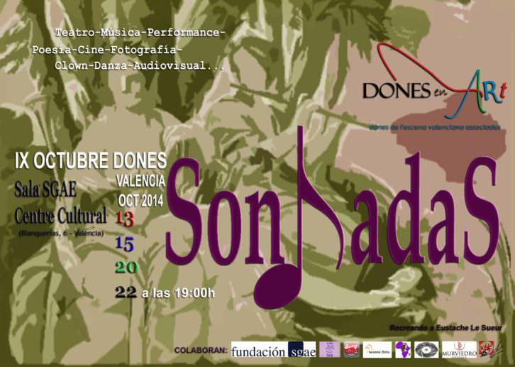 Cartel de SonhadaS, IX Festival Octubre Dones. Imagen cortesía de Dones en Art.