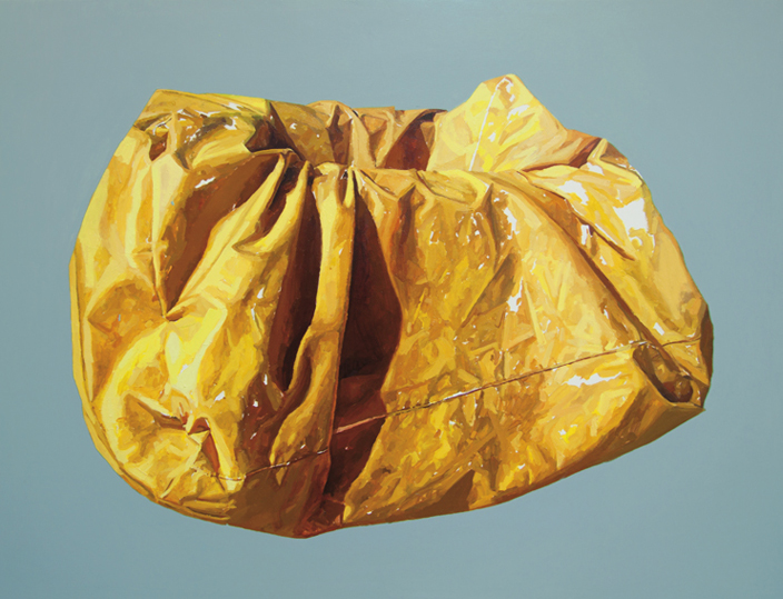 Javier Palacios. Container souls, 2012. Oil on board. 92 x 120 cm. Cortesía del artista
