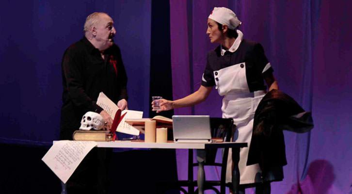 Escena de 'Yo, Quevedo', de Moncho Borrajo. Imagen cortesía de Teatre Talia.