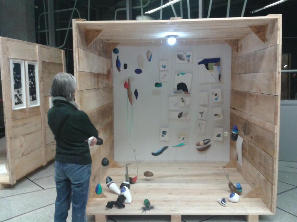 Instalación dentro de la Feria Internacional de Grabado y Arte de Bilbao.