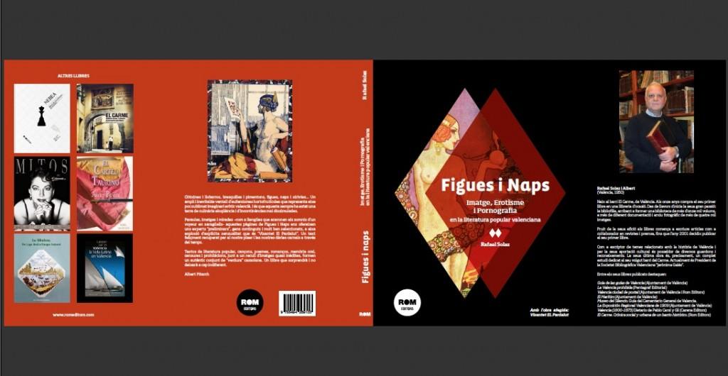 Portada y contraportada del libro 'Figues i naps' de Rafael Solaz. Rom Editors.