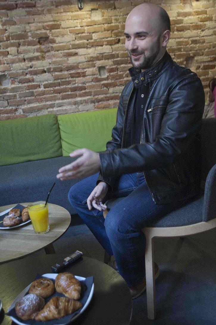 Miguel Ángel Font, en un momento de los Desayunos Makma de Lotelito. Fotografía: Fernando Ruiz.