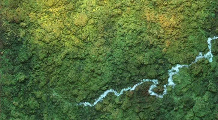Obra de Iñaki Torres en la exposición 'Amalur: Madre Tierra', en la galería Espacio 40 de Valencia. Imagen cortesía del autor.