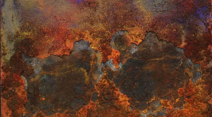 Obra de Iñaki Torres en la exposición 'Amalur: Madre Tierra' en la galería Espacio 40. Imagen cortesía del autor.